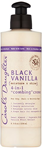 Carol's Daughter Black Vanilla Moisture & Shine 4 In 1 Combing Creme For Dry Hair And Dull Hair, Wit