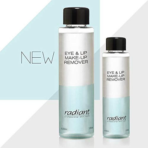 Eye And Lip Makeup Remover By Radiant Professional Gentle Face Cleanser For Waterproof Mascara And Lipstick  Suitable For Contact Lens Users Enriched With Panthenol  Protects Skin (3.38 fl oz)