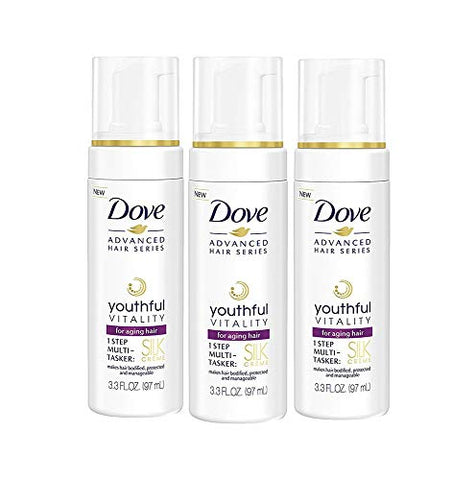 Dove Advanced Hair Series Silk Creme, Youthful Vitality 3.3 oz (Pack of 3)