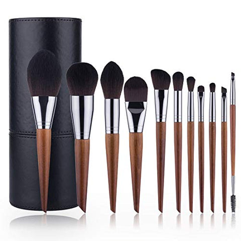 HU- Makeup Brush Synthetic Foundation Eye Shadow Contour Face Brush for Cream Liquid