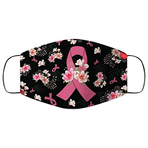 Breast Cancer Awareness Faith Hope Love Pink Ribbon Face Bandanas, Owill Reusable Washable Bandanas Breast Cancer Gifts (Beg /3PC)