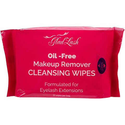 GladGirl | Oil-Free Makeup Remover Wipes Formulated for Eyelash Extensions | Paraben Free & Vegan