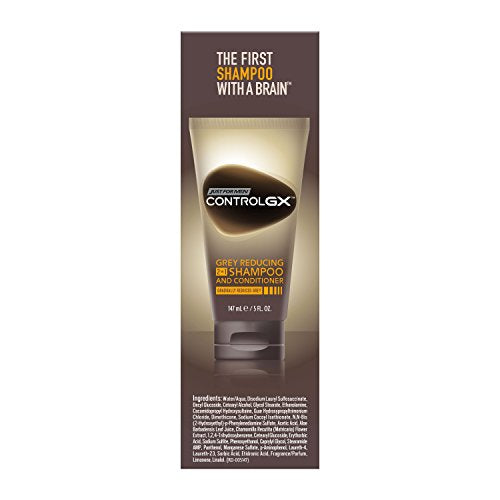 Just For Men Control Gx 2 In 1 Grey Reducing Shampoo And Conditioner, 5 Fluid Ounce