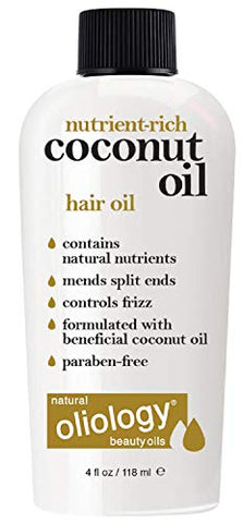 Oliology Coconut Hair Oil   Mends Split Ends | Controls Frizz | Paraben Free