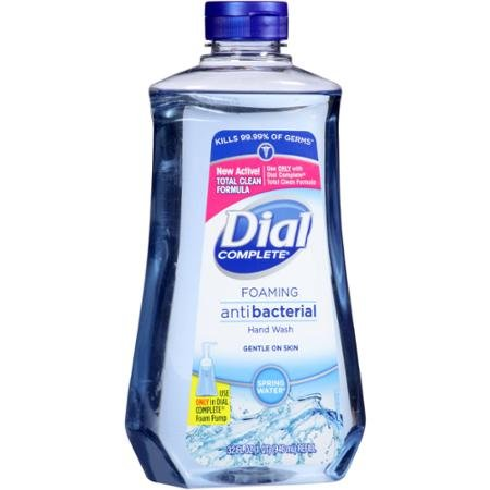 Dial Foaming Soap Refill, Complete Anti-bacteria Spring Water Hand Wash, 32 Oz (2 Bottle)