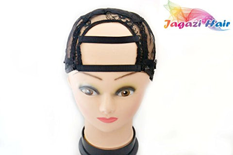 Jagazi Full Closure Cap. Wider Gap Middle U Part Wig Making Cap. 3.5