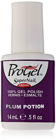 Supernail Gel Polish for Nails, Plum Potion Shimmer, 0.5 Fluid Ounce