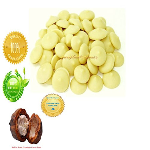Certified Organic Delicious Cocoa Butter Wafers 2 LBS (For Baking delicious Brownies or an amazing Coffee!)