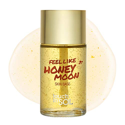 TOUCH IN SOL Feel Like Honey Moon Skin Base 1.06 oz. (32g) - Honey and Collagen Based Face Primer, Makes Flawless and Smooth Skin for Foundation Makeup, Reduces Fine Lines and Wrinkles