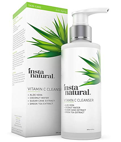 Vitamin C Facial Cleanser   Anti Aging, Breakout & Blemish, Wrinkle Reducing, Exfoliating Gel Face W