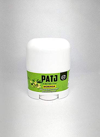 Patj (25 Grams) Antiperspirant Moringa Aluminum Free Deodorant made with Raw Oleifera leaves infused with corn starch and Vitamin E oil