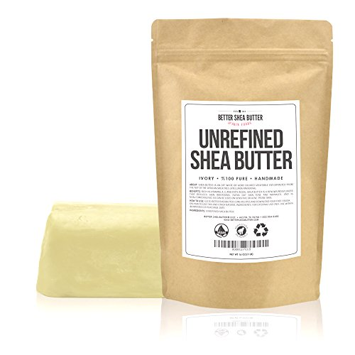 Unrefined African Shea Butter   Ivory, 100% Pure & Raw   Moisturizing And Rich Body Butter For Dry S