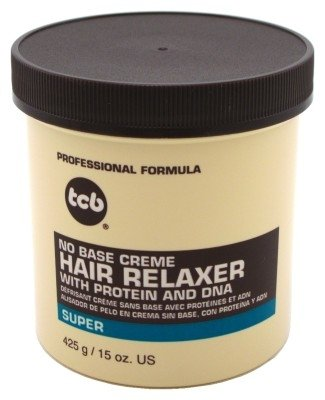 Tcb Hair Relaxer No Base Creme 15 Ounce Super Jar (443ml) (3 Pack)