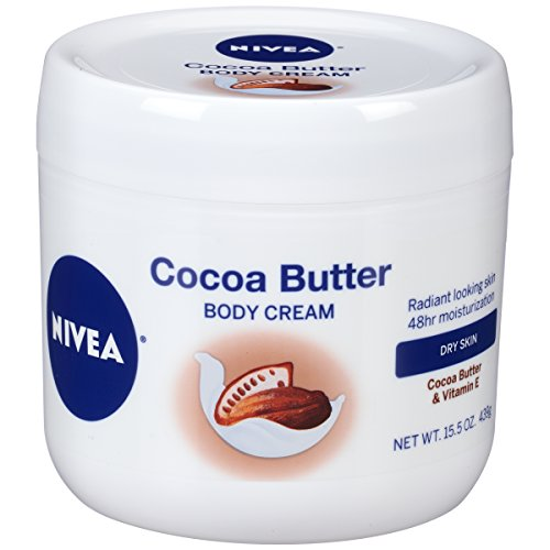 Nivea Cocoa Butter Body Cream   48 Hour Moisture For Dry Skin To Very Dry Skin   15.5 Oz. Jar