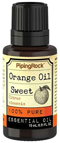 Piping Rock Orange Sweet Pure Essential Oil 1/2 Ounce 15 Milliliter Dropper Bottle Citrus Sinensis Therapeutic Grade (Pack of 12)