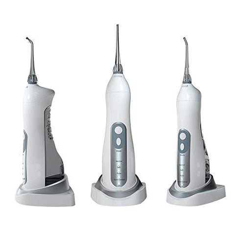 Cordless Water Flosser - 170ML Oral Irrigator, 4 Jet Tips Inductive Charging IPX7 Waterproof 4 Mode, for Family and Travel, gray