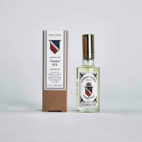 Caswell-Massey Number Six Cologne Spray - Aromatic Blend of Orange Blossom, Bergamot and Rosemary - 3 Ounces
