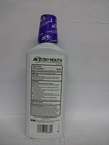 ACT Total Care Dry Mouth Anticavity Mouthwash, Soothing Mint 18 oz ( Pack of 3)