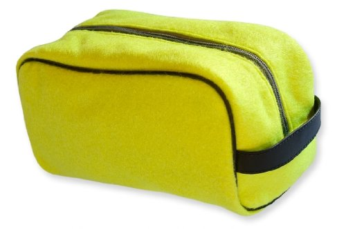 Zumer Sport Actual Ball Material Toiletry Travel Bag, Tennis Yellow, One Size