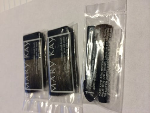 Mary Kay - 2 Compact Cheek Brush and 1 Eye Sponge Applicator (3 Total)