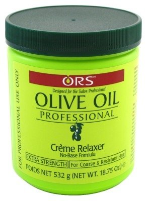 Ors Olive Oil Creme Relaxer Extra Strength 18.75 Ounce Jar (555ml) (3 Pack)