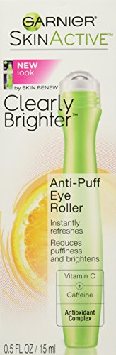 Garnier Skin Active Clearly Brighter Anti Puff Eye Roller, 0.5 Ounce