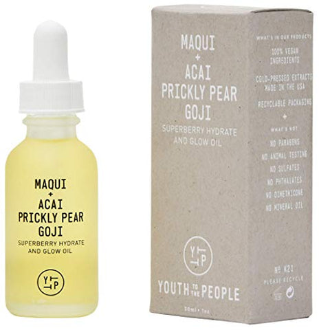 Youth To The People Superberry Hydrate and Glow Oil - Antioxidant Facial Oil with Squalane and Prickly Pear, Clean Skincare + Vegan Beauty (1oz)