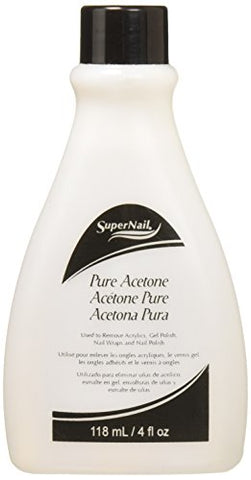 Super Nail Pure Acetone, 4 Fluid Ounce