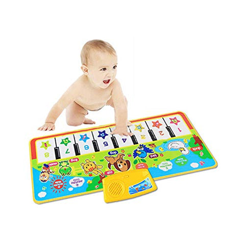 lecimo Game Children Blanket Children Color Animal Baby Piano Musical Touch Listen Sing Gym Carpet Mat Toy Music Gift Rug Carpet