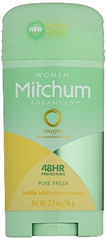 Mitchum For Women Advanced Control Anti-Perspirant Deodorant Invisible Solid Pure Fresh 2.70 oz (Pack of 9)