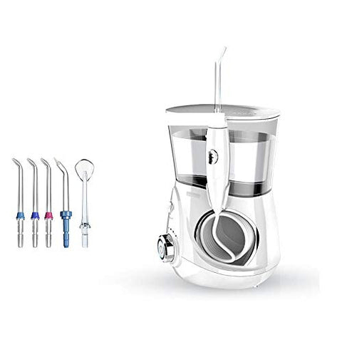 Water Flosser - Dental Oral Irrigator for Teeth, 700ML Waterproof, 12 Adjustable Pressure with 5 Jet Tips and Nozzle Storage Box