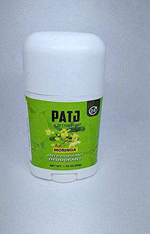 Patj (50 Grams) Antiperspirant Moringa Aluminum Free Deodorant made with Raw Oleifer leaves infused with corn starch and Vitamin E oil