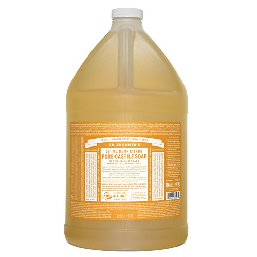 Dr. Bronnerâ??S   Pure Castile Liquid Soap (Citrus, 1 Gallon)   Made With Organic Oils, 18 In 1 Uses