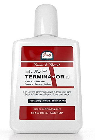 BUMP TERMINATOR Extra Strength Severe Bumps Lotion by Breej, 6.8 fl oz (200 ml)