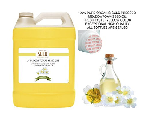 100% Pure Organic Cold Pressed Meadowfoam Seed Oil 1 Gallon (128 FL.OZ)