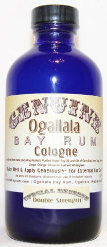 4 Oz Genuine Ogallala Bay Rum Cologne â?? Special Reserve Double Strength Cologne Comes In A Cobalt
