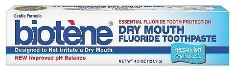 Biotene Dry Mouth Fluoride Toothpaste, Fresh Mint - 4.3 Oz