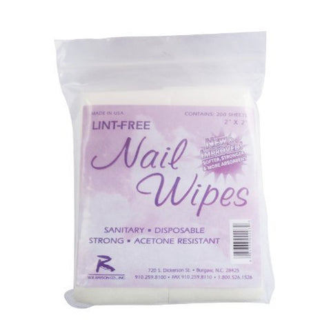 200 x Lint Free Nail Wipes Acrylic / Gel / Tips Remover
