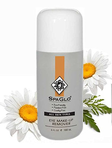 SpaGlo Eye Makeup Remover - 6 oz - Leaves the delicate skin around the eye area feeling cool and refreshed, with no oily residue. Light and oil-free transparent liquid cleanser.