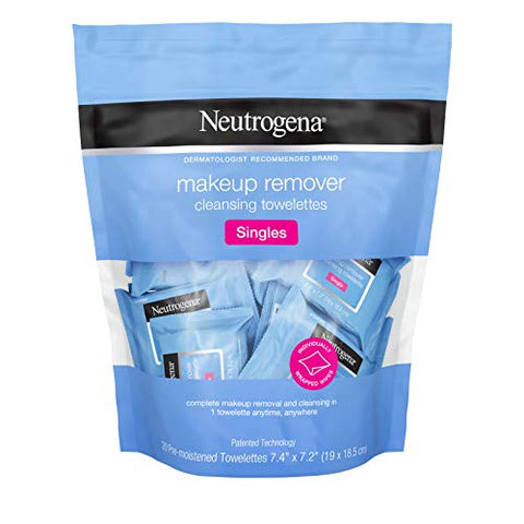 Neutrogena Makeup Remover Facial Cleansing Towelette Singles, Daily Face Wipes To Remove Dirt, Oil,