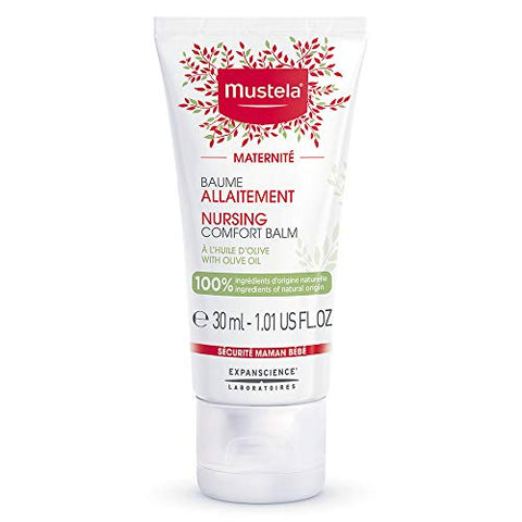 Mustela Nursing Comfort Balm With Olive, Nipple Cream For Maternity And Breastfeeding, Vegan, Plant
