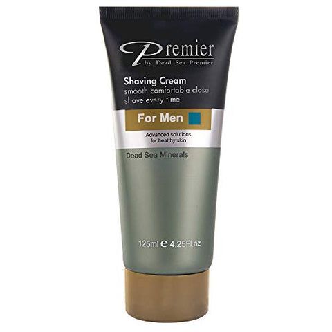 Premier Dead Sea Sensitive Skin Shaving Cream For Men, Protects From Nicks, Cuts, Rasor Burns And In