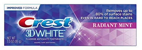 Crest Toothpaste 3 Ounce 3D White Radiant Mint (Pack of 3)