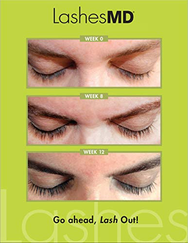 LashesMD Eyelash Growth Serum & Eyelash Conditioner for Naturally Fuller Looking Eyelashes and Eyebrows In As Little As Four Weeks