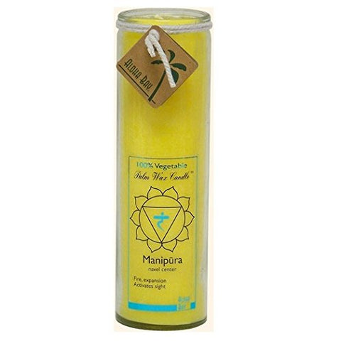 Aloha Bay Unscented Chakra Jar Protection Manipura Candle, Yellow, 1 Ea