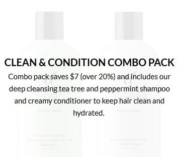 Pete And Pedro Clean Condition Combo Pack |  Tea Tree Oil Shampoo And Peppermint Cream Conditioner