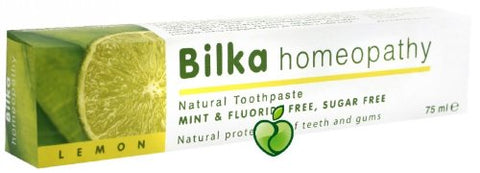 2 x Homeopathic Toothpaste with Lemon 75ml by Bilka