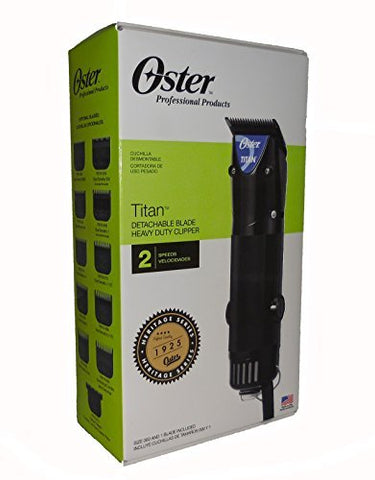 OVERSEAS USE ONLY Oster Titan Model #076076-410 Detachable Blade Heavy Duty Clipper with (ACUPWR (TM) Plug Kit - Lifetime Warranty) - 220V 50/60 Hz WILL NOT WORK in USA/Canada