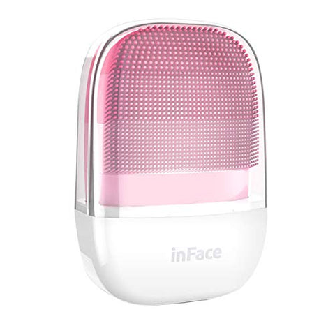 Facial Cleansing Brush,Rechargeable,IPX7 Waterproof,face scrubber Perfect for Deep Cleansing, Gentle Exfoliating & Removing Sonic silicone facial Cleansing brush Blackhead (pink)