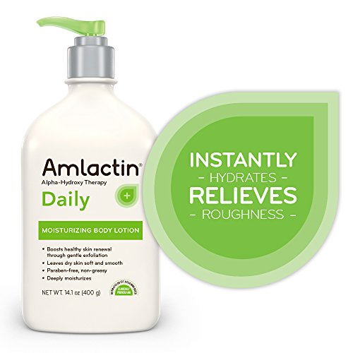 Am Lactin Daily Moisturizing Body Lotion , 14.1 Ounce (Pack Of 1) Bottle With Pump, Paraben Free